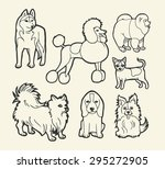 dog sketch icons 1. good use... | Shutterstock .eps vector #295272905