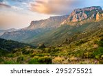 dramatic mountains at big bend... | Shutterstock . vector #295275521