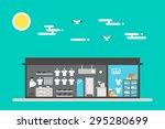 flat design of cloth shop... | Shutterstock .eps vector #295280699