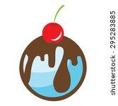 cherry ice cream cupcake vector ... | Shutterstock .eps vector #295283885