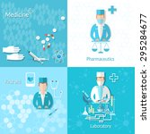 medicine pharmacy laboratory... | Shutterstock .eps vector #295284677