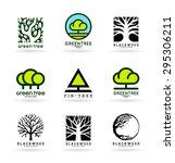 trees  9  | Shutterstock .eps vector #295306211