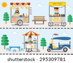 street food in thailand design  ... | Shutterstock .eps vector #295309781