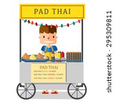 street food  pad thai vendor in ... | Shutterstock .eps vector #295309811