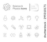 science related icons set | Shutterstock .eps vector #295310171