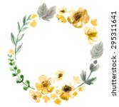 the wreath of flowers... | Shutterstock . vector #295311641