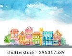 Cartoon Buildings. Little...