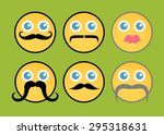 retro fashion smiley set | Shutterstock .eps vector #295318631