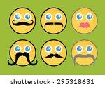 retro fashion smiley set | Shutterstock .eps vector #295318631