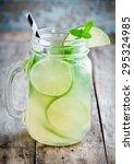 homemade lemonade with lime ... | Shutterstock . vector #295324985