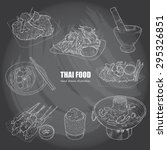 illustration of thai food on... | Shutterstock .eps vector #295326851