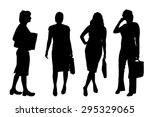 vector silhouettes of women on... | Shutterstock .eps vector #295329065