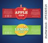 apple juice  lemon juice label | Shutterstock .eps vector #295330514