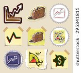 hand drawn finance emblems set. ... | Shutterstock .eps vector #295341815