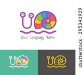 colored stylized snail icon set ... | Shutterstock .eps vector #295341929