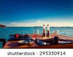 Table Setting At Tropical Beac...