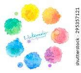rainbow colors vector... | Shutterstock .eps vector #295357121