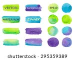 Set Of Watercolor Backgrounds...