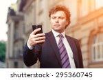 handsome mature caucasian... | Shutterstock . vector #295360745