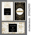 set of vector floral save the... | Shutterstock .eps vector #295362905