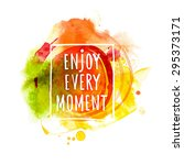 watercolor splash banner with... | Shutterstock .eps vector #295373171