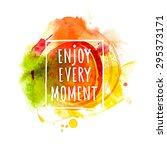 watercolor splash banner with... | Shutterstock .eps vector #295373171