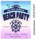 beach party flyer  poster | Shutterstock .eps vector #295373357