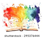 Watercolor Painted Book...