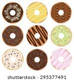 donuts set | Shutterstock .eps vector #295377491