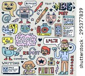 blogging activities funny... | Shutterstock .eps vector #295377839