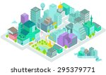 vector of the isometric set... | Shutterstock .eps vector #295379771