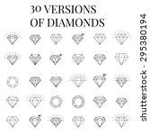 diamond  icons set  design | Shutterstock .eps vector #295380194