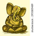 lord ganesha sketch  yellow ... | Shutterstock .eps vector #295385489