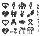 charity and peace icon set | Shutterstock .eps vector #295394741