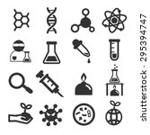 biological icon set | Shutterstock .eps vector #295394747