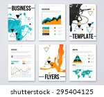 modern business brochures and... | Shutterstock .eps vector #295404125