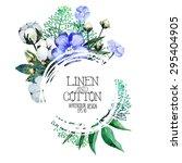 watercolor linen and cotton.... | Shutterstock .eps vector #295404905