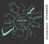 sketch arrows vector set | Shutterstock .eps vector #295408409