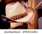 Straw Cowboy Hat On Display