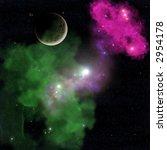 deep space nebula seen from a... | Shutterstock . vector #2954178