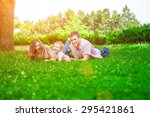 family outdoor   enjoying the... | Shutterstock . vector #295421861