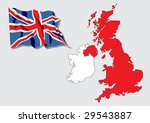 map of great britain and ireland | Shutterstock .eps vector #29543887