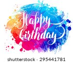 vector hand painted watercolor... | Shutterstock .eps vector #295441781