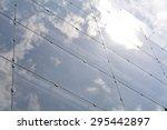 mirrored glass facade | Shutterstock . vector #295442897