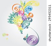 tropical abstract with spiral... | Shutterstock .eps vector #295452311