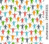 social media people seamless... | Shutterstock . vector #295453331