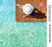 summer holiday fashion concept  ... | Shutterstock . vector #295455431