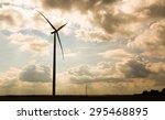 windmills standing on corn...   Shutterstock . vector #295468895