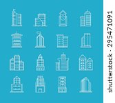 building thin line icons set  ... | Shutterstock .eps vector #295471091