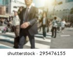 people in bokeh  street... | Shutterstock . vector #295476155